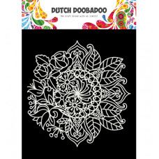 Dutch DooBaDoo - DDBD Mask Art Mandala met bloem