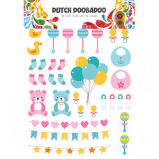 Dutch DooBaDoo - Dutch Paper Art Baby elements