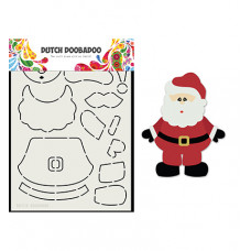 Dutch DooBaDoo - Card Art Built up Santa