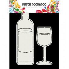 Dutch DooBaDoo - Card Art Wine Bottle and Glass