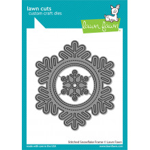 Lawn Fawn - stitched snowflake frame