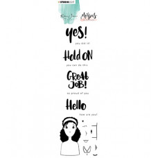 StudioLight - Karin Joan Clear Stamp Eng.Text Missees Collection, nr.08