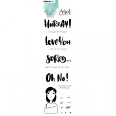 StudioLight - Karin Joan Clear Stamp Eng.Text Missees Collection, nr.09