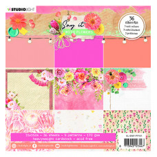 StudioLight - SL Paper pad Pattern Paper Say it with flowers nr.161