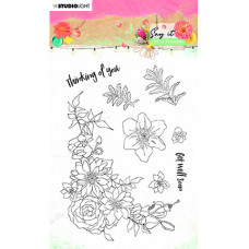 StudioLight - SL Clear Stamp Say it with flowers nr.525