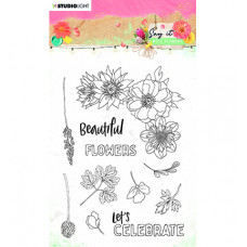 StudioLight - SL Clear Stamp Say it with flowers nr.526