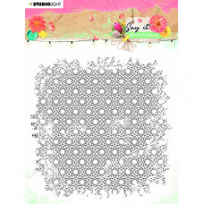 StudioLight - SL Clear Stamp background Say it with flowers nr.528