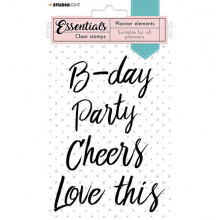 StudioLight - SL Clear Stamp Text party Planner Essentials nr.08