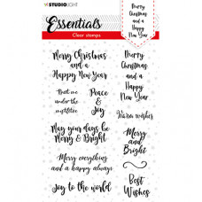 StudioLight - SL Clear stamp Christmas Handletter Merry Christmas ENG Essentials nr.88